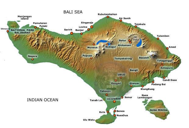 Map van Bali